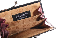 Leather Osprey purse