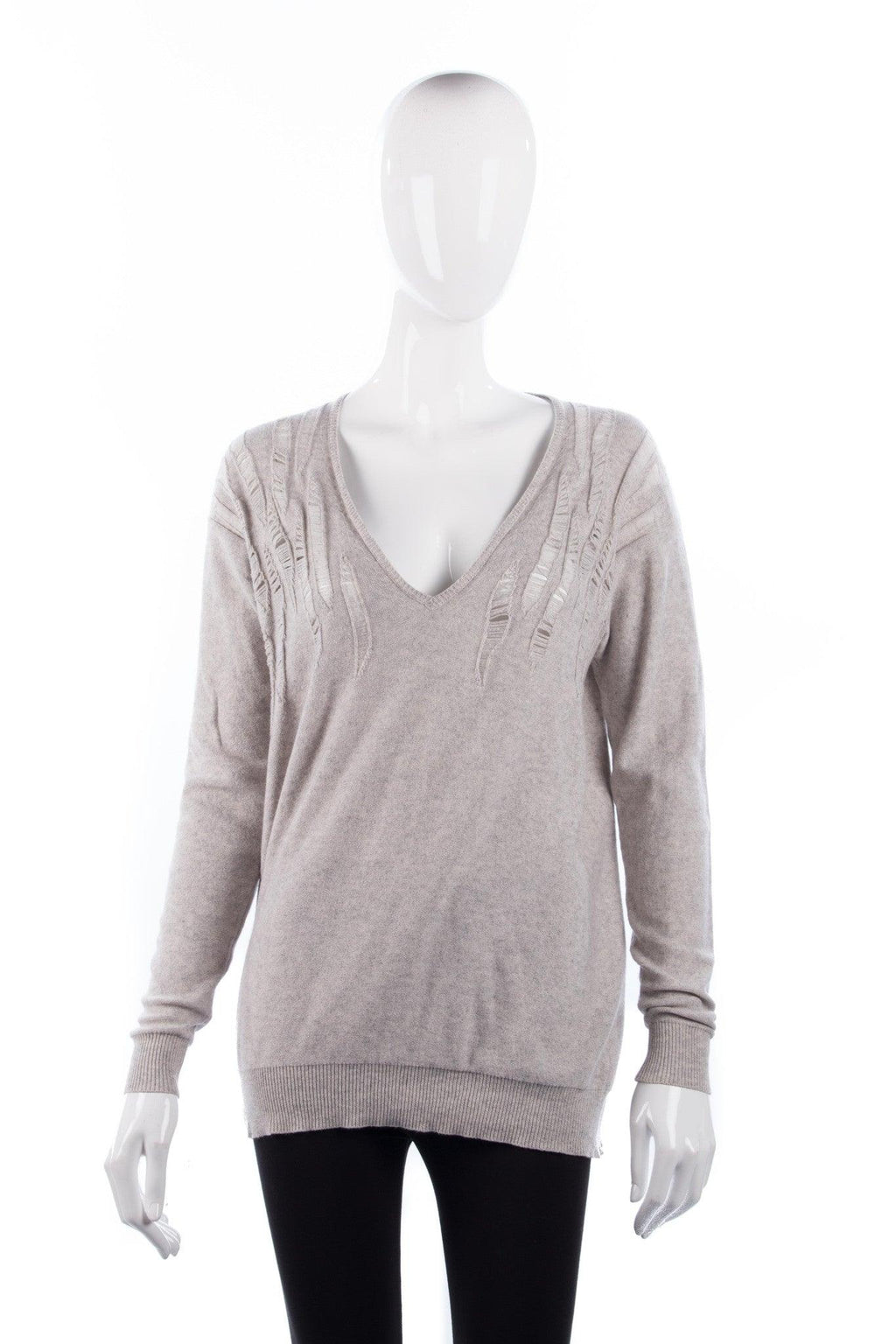Stella McCartney Jumper Cotton Cashmere and Silk Mix Grey Size 38 (UK8)