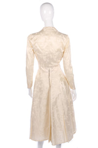Short vintage strapless wedding dress and matching jacket size S