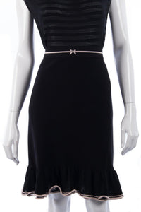 MARCCAIN Black Knit Skirt Size 12, RRP £259 BNWT