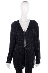 Long black beaded jacket