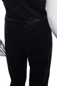 Live A Little Suede Trousers Black Size S