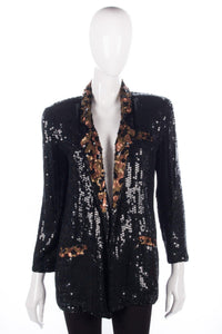 Bruna Cavvalini black sequinned jacket