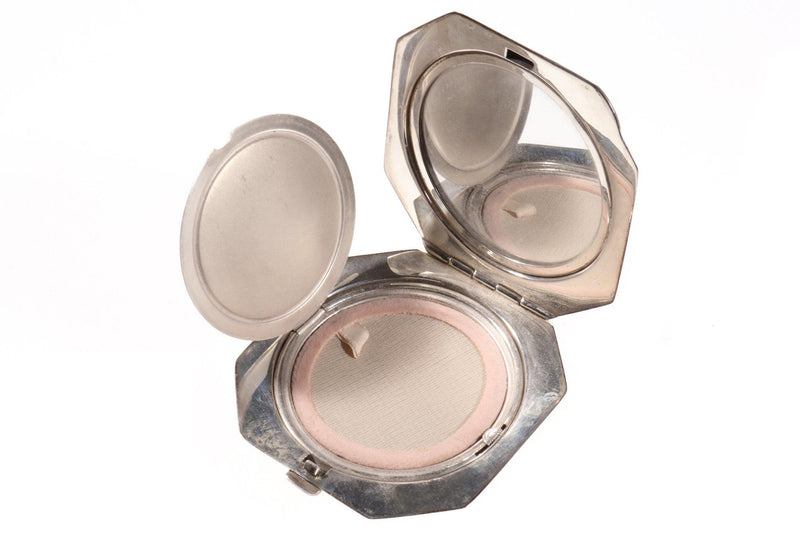 Silver hall marked vintage makeup compact