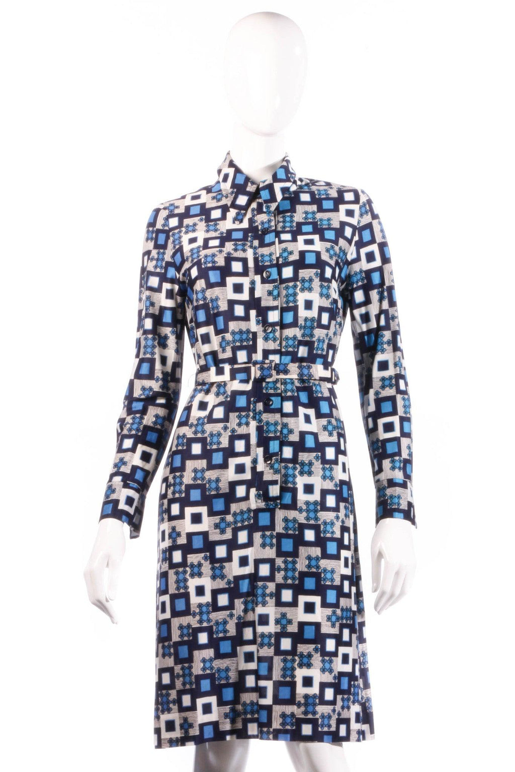 Sidgreene blue geometric print dress