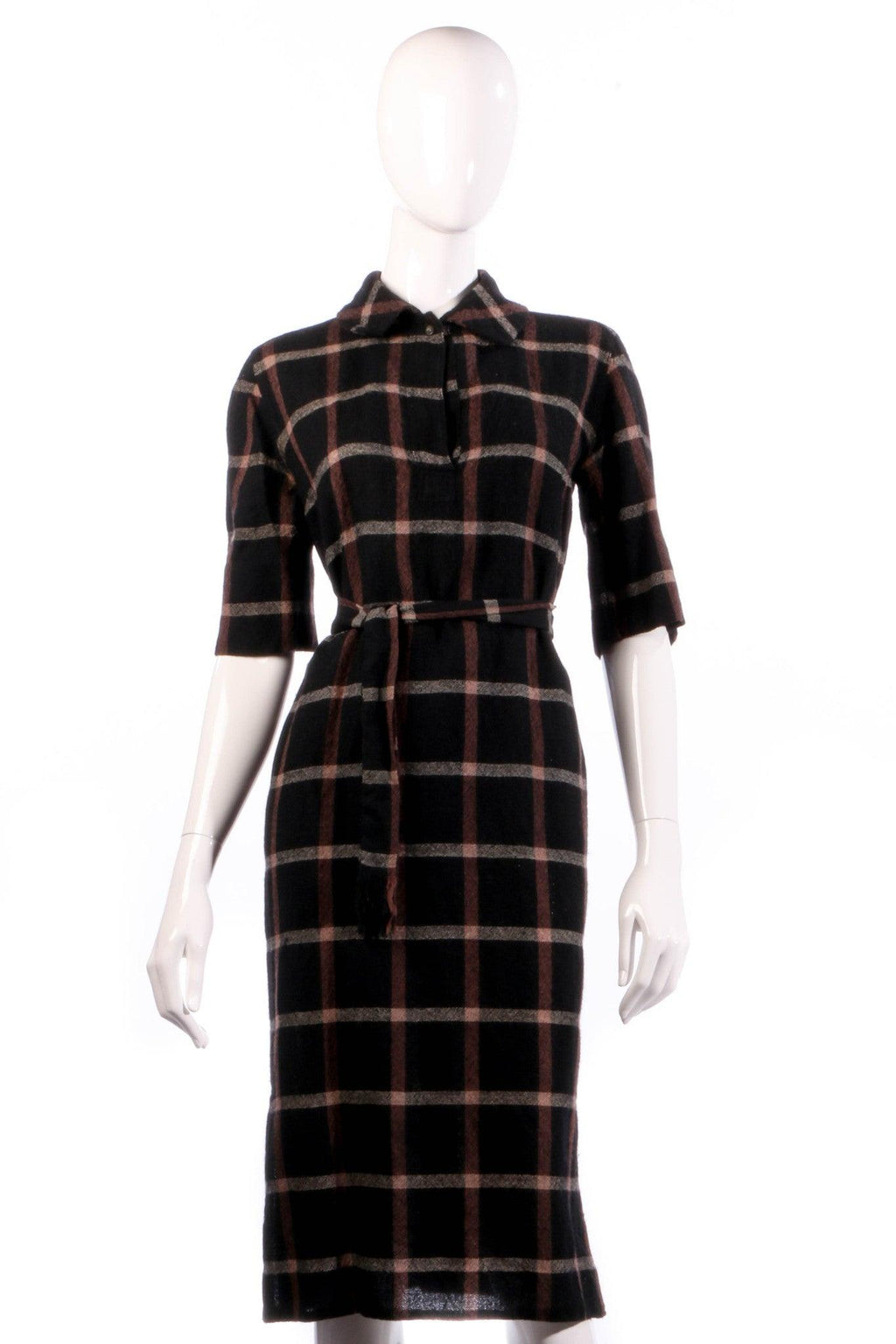 Donald Davies black and red checked dress size 14