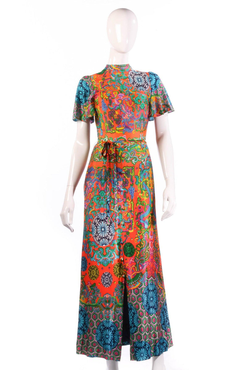 Leygil multi coloured floral maxi dress