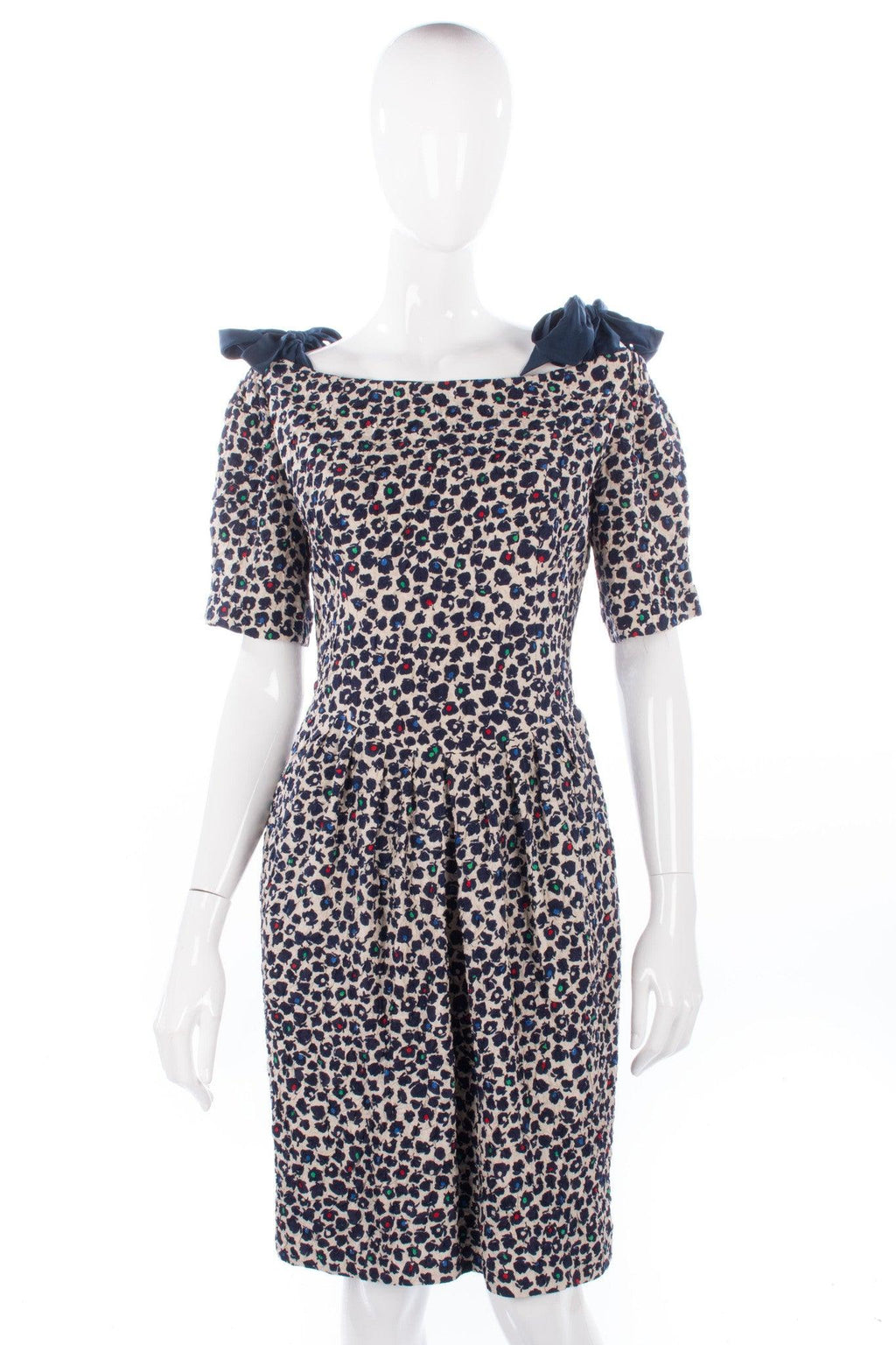 Beatrice Hypendahl dress size 8 white and blue