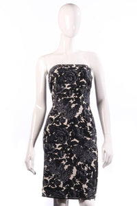 Paul Smith black and white floral mini dress size 12