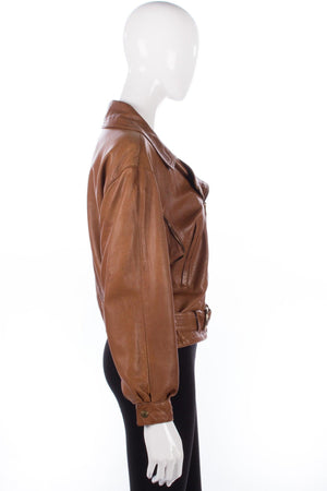 Arturo leather biker jacket size M