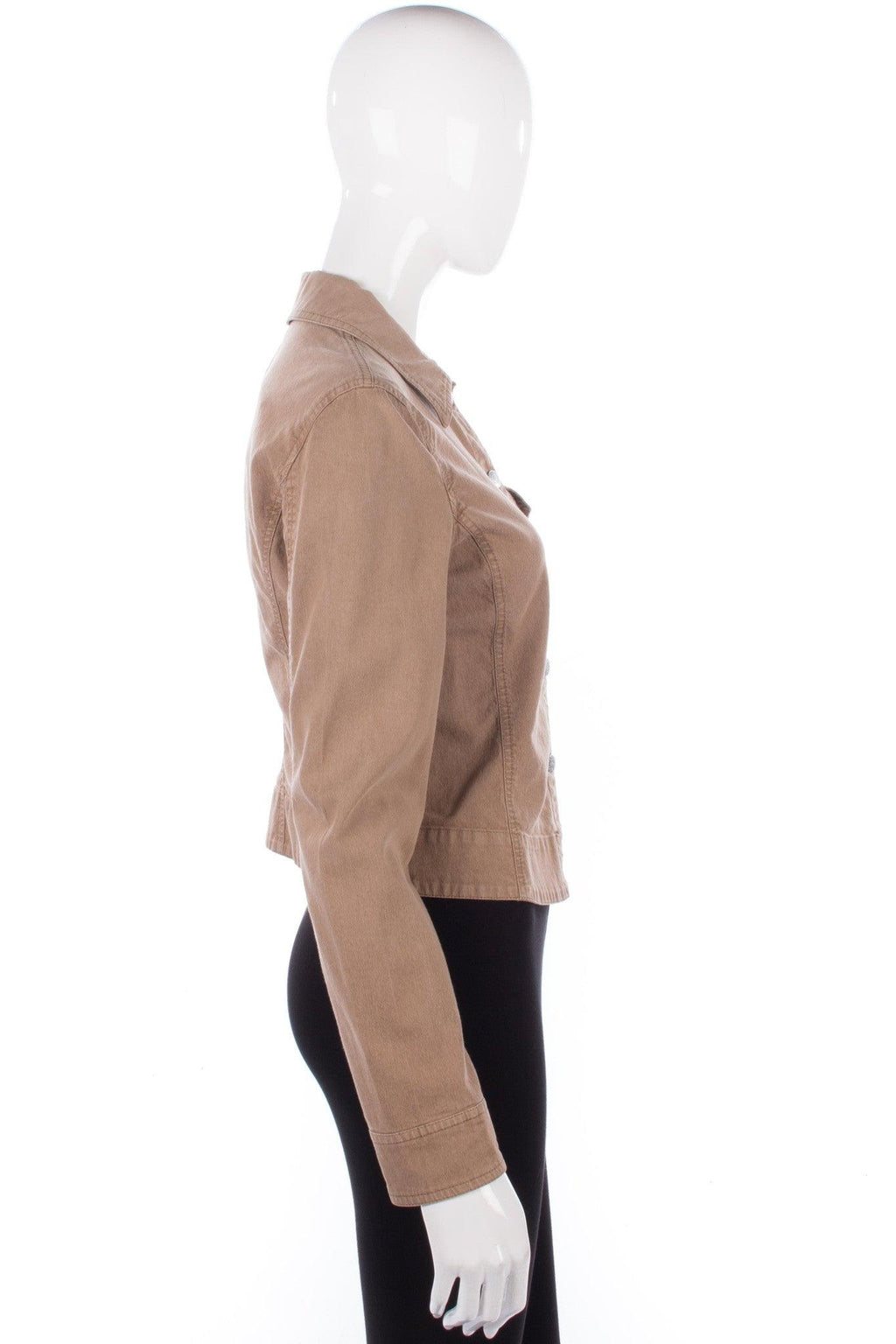 Armani Jeans Jacket Cotton Camel Colour Size 12