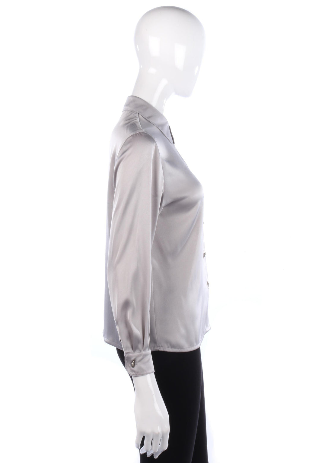 Precis Petit  Blouse with Teardrop Buttons Grey/Silver Size 8