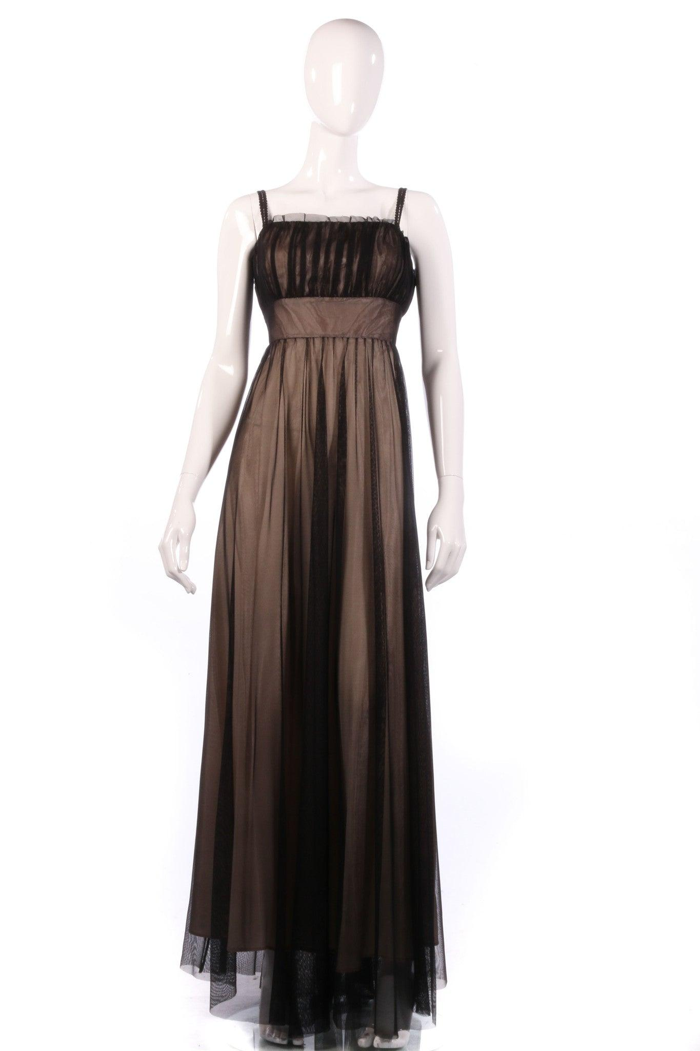Debut nude and black ball gown size 12/14 – Ava & Iva