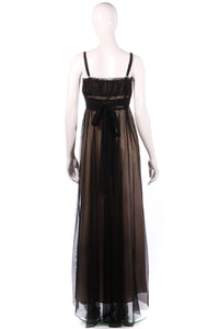 Caroline Charles nude and black ball gown back