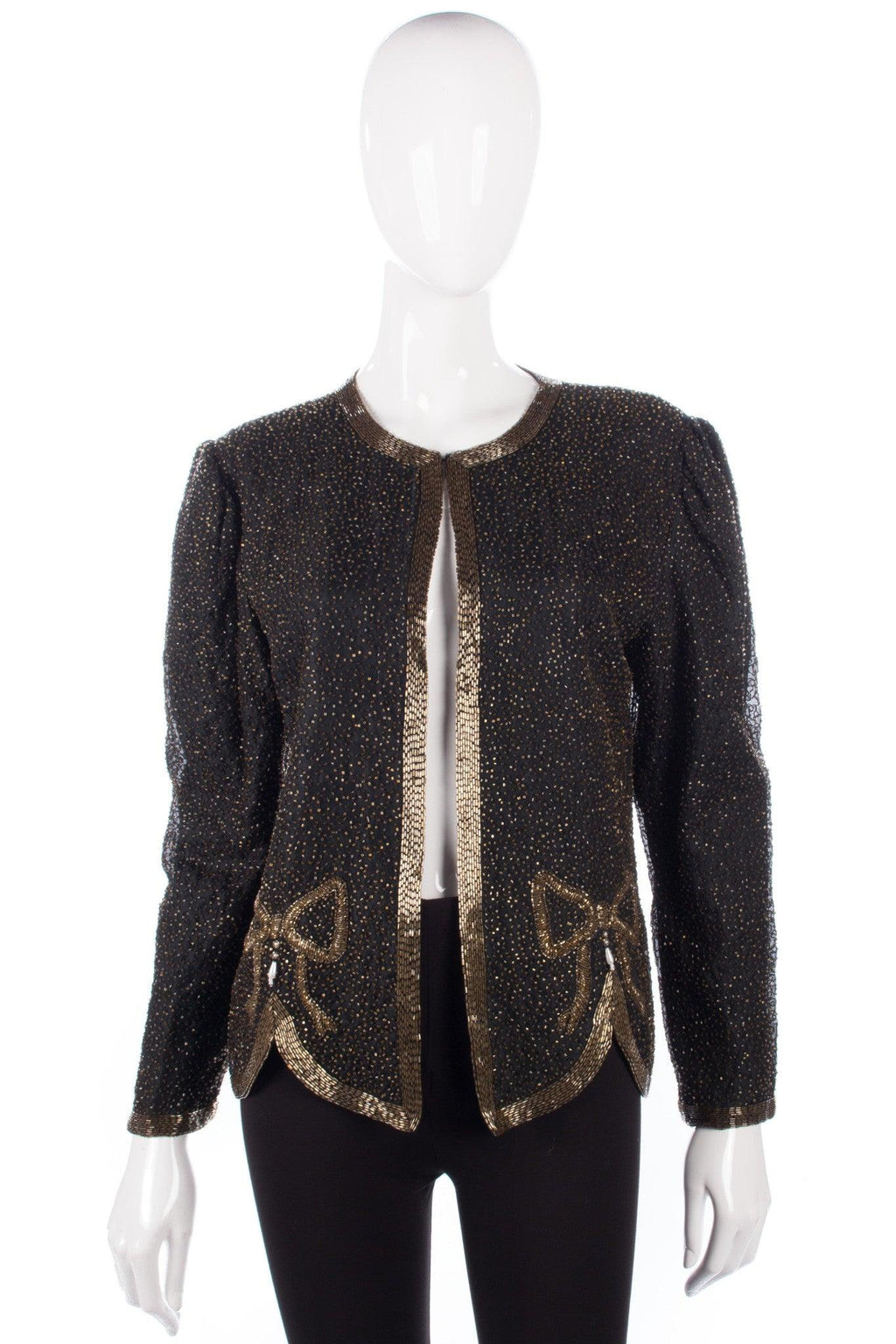 Razzle Dazzle Sequinned Jacket Black and Gold  UK 12/14