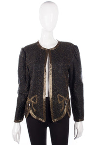 Razzle Dazzle sequinned black gold and pearl jacket