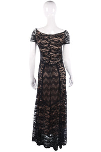 Miusol black lace evening dress size XL