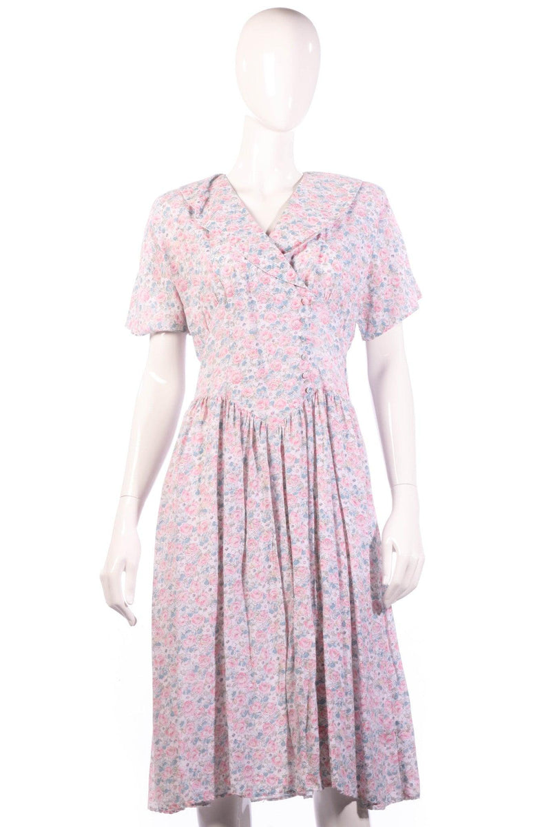 Lagenes pink floral dress size 14
