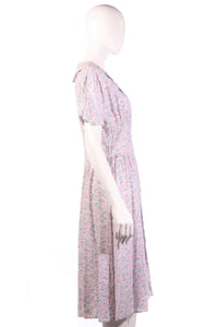 Lagenes pink floral dress size 14 side