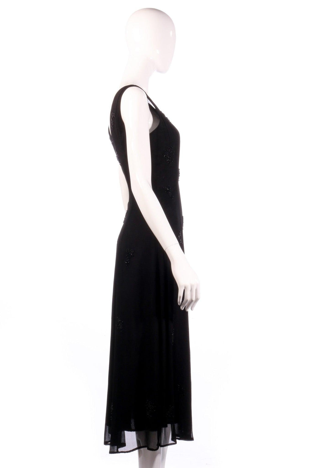 Black Dorothy Perkins beaded black dress size 12