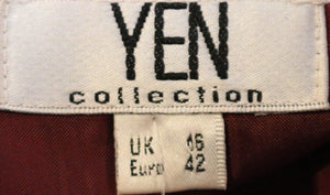 Yen Collection Jacket Velvet with Silk Trim Red Size 16