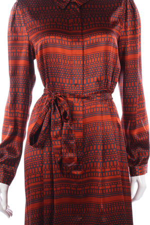 Silk L.K.Bennett orange dress size M/L
