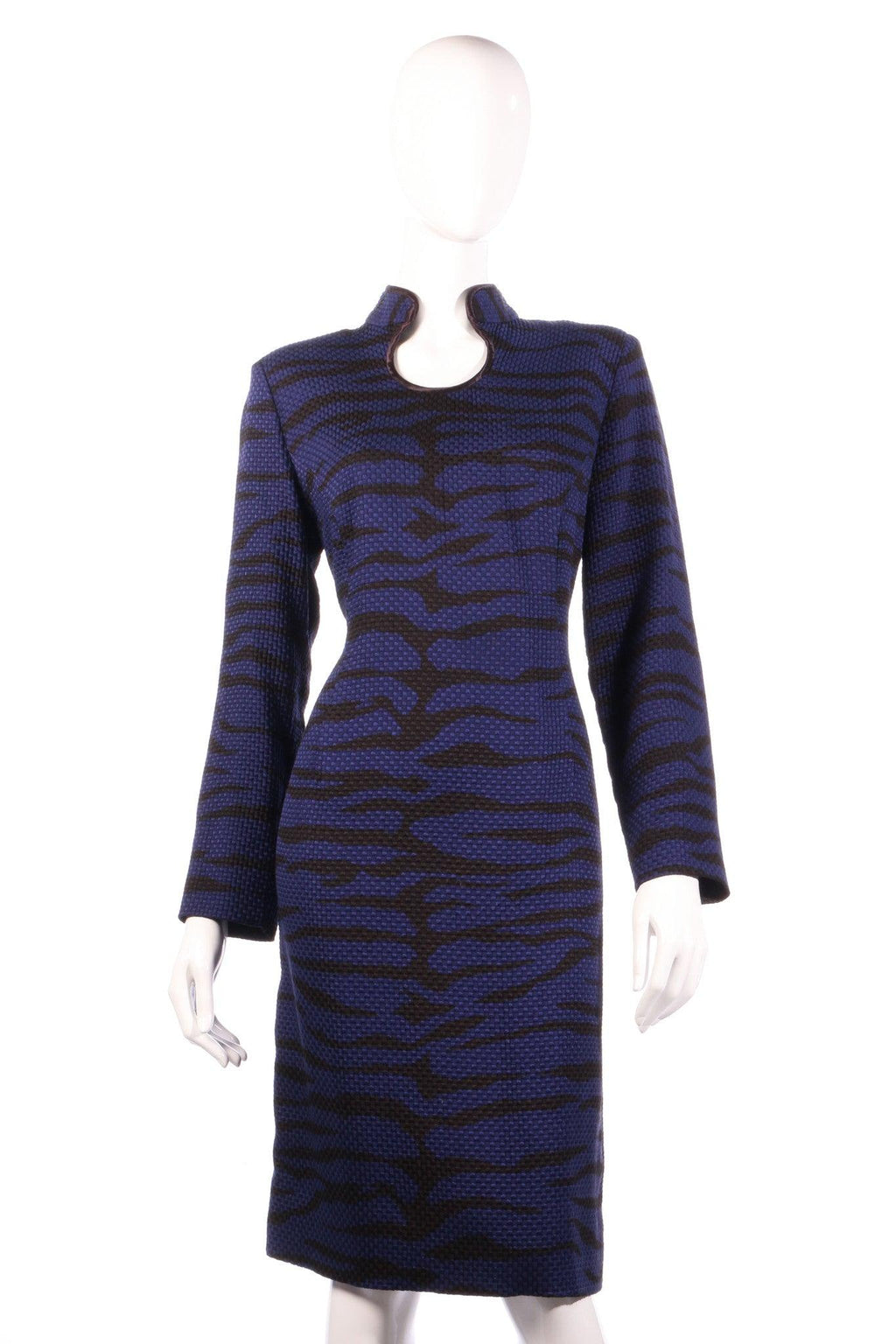Purple zebra print dress