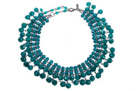 Mano UK turquoise glass bead choker