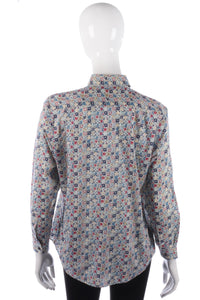 Lovely blue floral print shirt