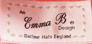 Emma B design pink hat label