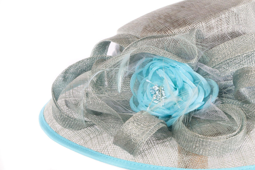 Balfour blue formal hat  side