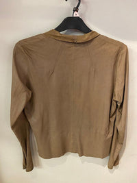 VQDUM Suede Light Weight taupe jacket UK size 10