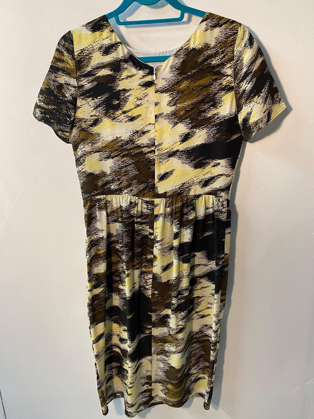 Jaeger Silk Dress Abstract Animal Print UK Size 10 BNWT RRP£220