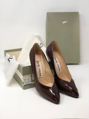 Kurt Geiger Court Shoes Leather Brown UK 3.5
