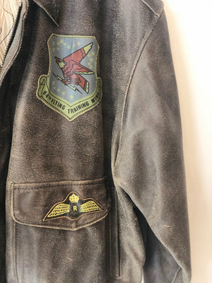 Ryan Leatherwear Classic 1989 Warbirds Vintage Leather Bomber Jacket L/XL