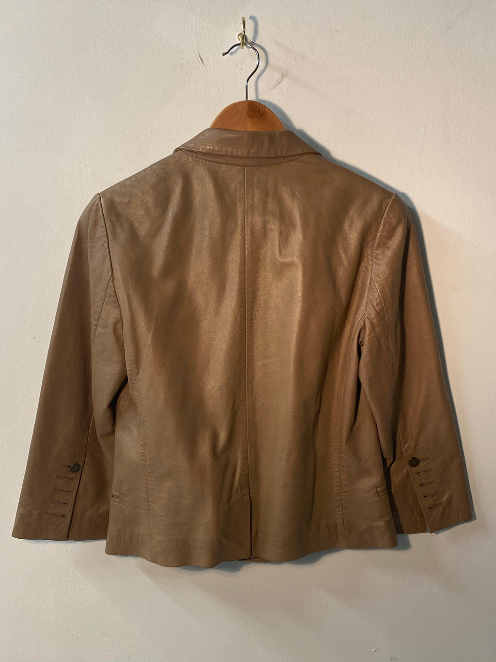 Zadig & Voltaire Deluxe Leather Jacket Taupe Size M