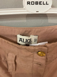 Alice by Temperley Trousers dusky pink cotton. UK size 10