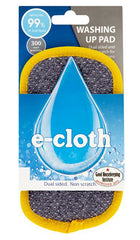 E-Cloth - Washing Up Pad Removes Grease & Grime 2 Sided Award Winning - Homespares.co.uk