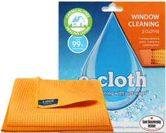 E-cloth: Window & Polishing Cleaning Pack Shine Sparkling Glass Award Winning - Homespares.co.uk