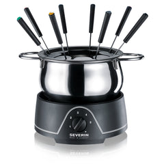 Severin FO2400 Fondue Set Removable Stainless Steel Heat Resistant Plastic - Homespares.co.uk