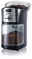 Severin KM3874 Coffee Grinder Stainless Steel Black Non-skid UK Conversion Plug - Homespares.co.uk