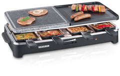Severin RG2341 Raclette Grill Natural Stone Non-Stick Plastic Healthy Low-Fat - Homespares.co.uk