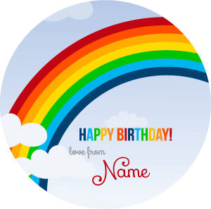 Rainbow Personalised Gifting Stickers