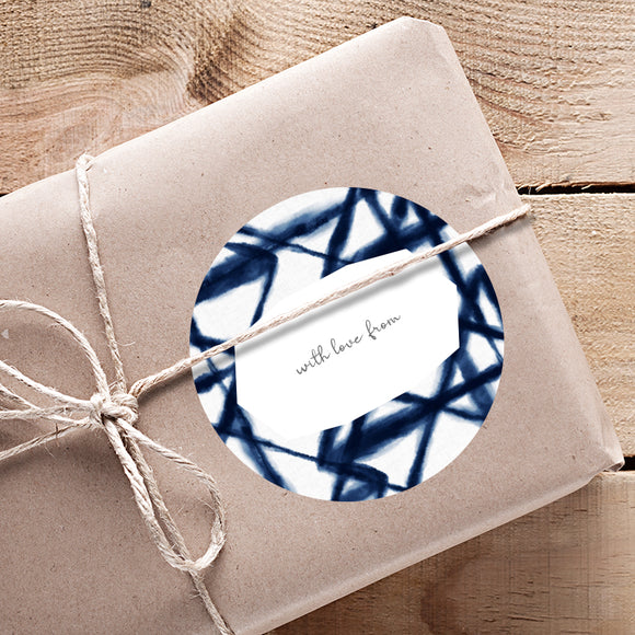 GIFTING STICKERS [pack of 24] ~ Shibori