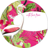 GIFTING STICKERS [pack of 24] ~ Fuschia & Lime
