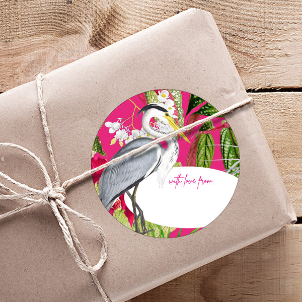 Fuschia & Lime Gifting Stickers