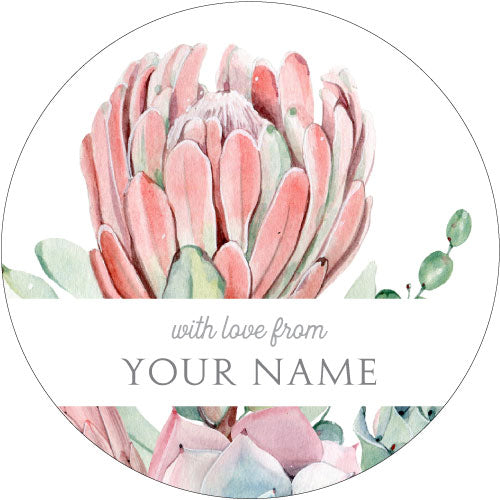 African Rose Personalised Gifting Stickers