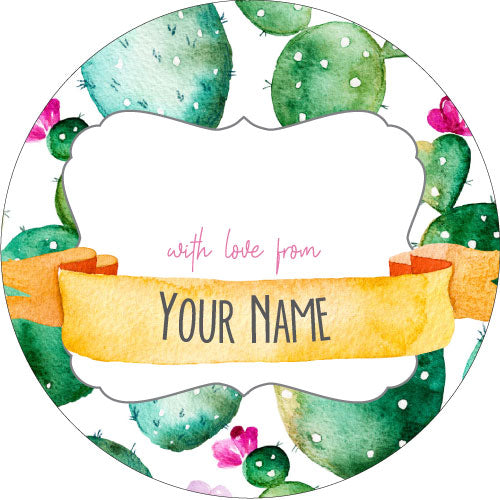Cactus Personalised Gifting Stickers