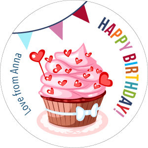 Cupcakes Personalised Gifting Stickers