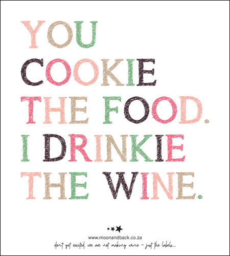 WINE LABELS ~ Dinner Party Collection